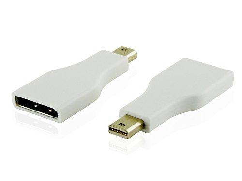Cablesson Mini DisplayPort 1.2 Adapter - männlich auf weiblich Mini DP to DP - Thunderbolt Adapter für Apple, Mac, Apple LED Cinema Display und mehr - 1080p, weiß (Thunderbolt Cinema Display Apple)