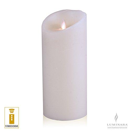 Luminara LED vela de cera con 10 x 23 cm blanco se puede controlar de smooth