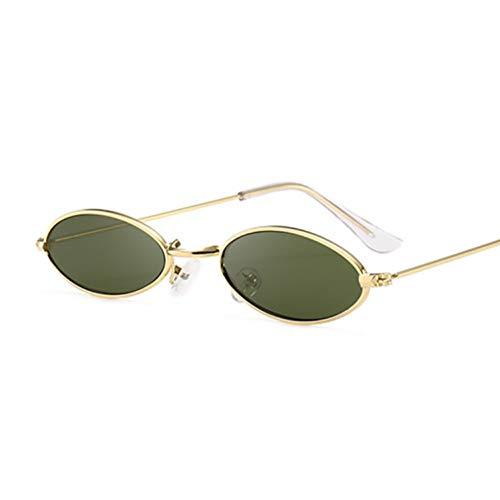 Kjwsbb Frauen-Sonnenbrille-berühmte ovale Sonnenbrille-Marken-Metallrunde Strahlen-Rahmen-preiswerte Brillen