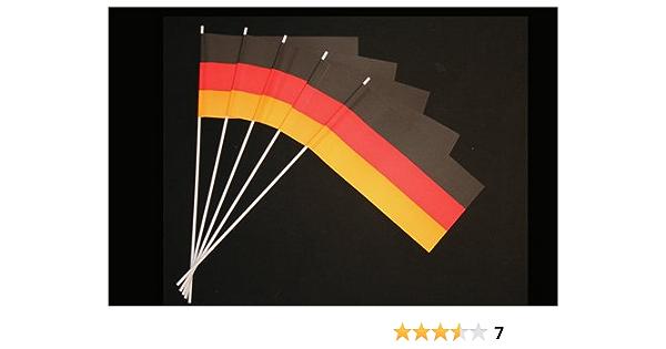 Everflag Papierfähnchen Deutschland 50er Packung Küche Haushalt