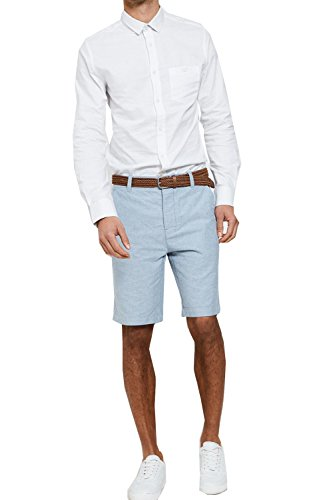 Threadbare - Short - Homme bleu oxford
