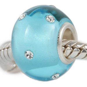 Andante-Stones 925 Sterling Silber Murano Mattglas Bead Charm KERASTYLE