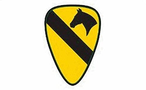 US Airborne 1st Cavalerie Drapeau 5 Ft X 3 ft Taille – 100% Polyester – Oeillets Métal – Double Couture