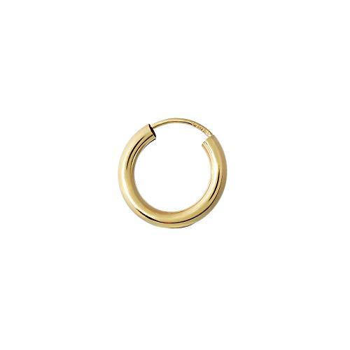 NKlaus EINZEL 585 gelb Gold CREOLE Ohrring Ohrschmuck rund Goldohrring 15mm 1852
