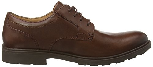 Clarks - Buckland Walk, Scarpe stringate Uomo Marrone (Chestnut Leather)