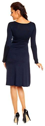 Zeta Ville - abito prémaman - estivo vestito - manica lunga - donna - 890c Marina