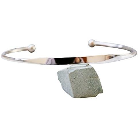 925 colorato piccolo cerchio braccialetto-auonice braccialetto, argento lapis braccialetto, argento quarzo rosa braccialetto, argento howlite (Fortunato Braccialetto Della Pietra Preziosa)