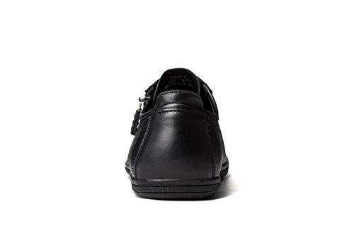 OPP Classic Scarpe da Uomo Vera Pelle Scarpe Black-2