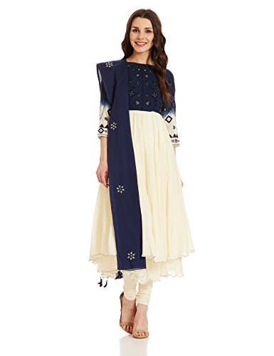 BIBA Women's Anarkali Salwar Suit (SKD4719_off-white_32)