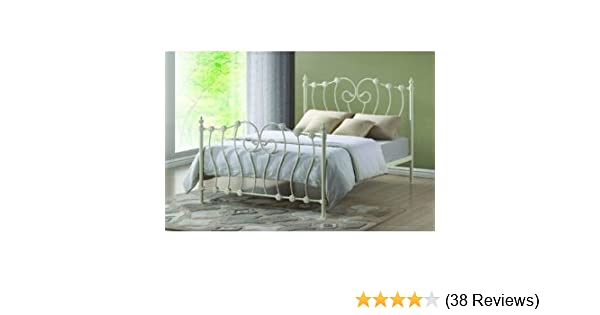 Time Living Innova Ivory Double 4FT6 Metal Bed Frame: Amazon.co.uk ...