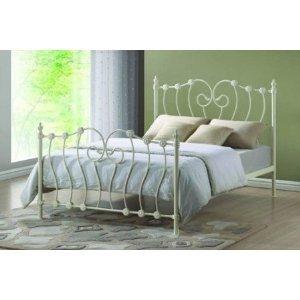 Inova Ivory Double (4FT6) Metal Bed Frame