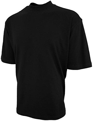 Good Life Luxus Baumwolle Stehkragen Shirt vorgekrimpt für Herren (groß, schwarz) - Luxus-shirt Aus Baumwolle