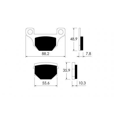 V PARTS - P10735/54 : Pastillas de freno delanteras