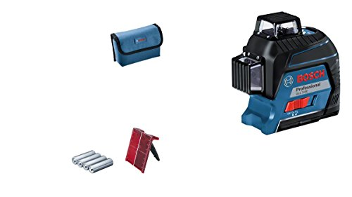 Bosch Professional Linienlaser GLL 3–80 (Nivelliergenauigkeit 0,2 mm/m, Arbeitsbereich mit Empfänger: 120 m, Tragetasche)