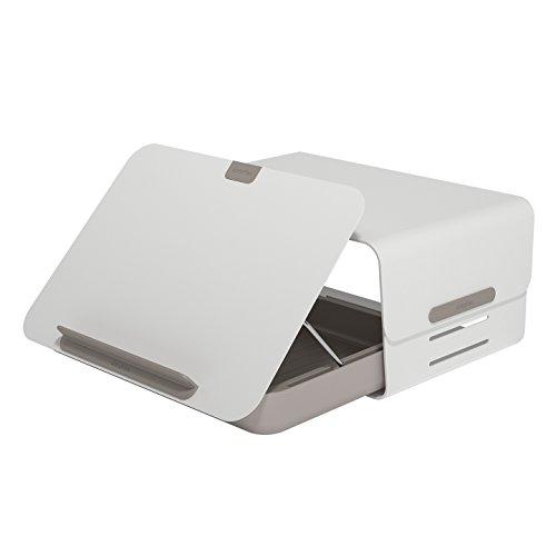 Dataflex Addit Bento Toolbox + Monitorerhöhung 220 Weiß