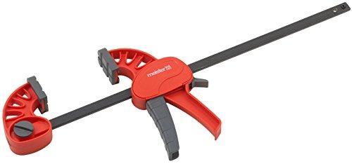 Meister Einhandzwinge Midi - 300 mm Spannweite - Hochwertige Verarbeitung - Sicheres & einhändiges Fixieren von Werkstücken / Klemmzwinge mit Schnellverschluss / Schnellspannzwinge / 5216500