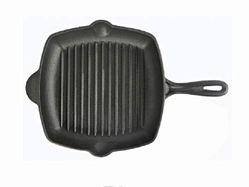 Weiwei grill elettrico 2 in 1 piatto padella multifunzione in ghisa stripe quadrato piastra padella 26cm padella antiaderente piastra pan-nero