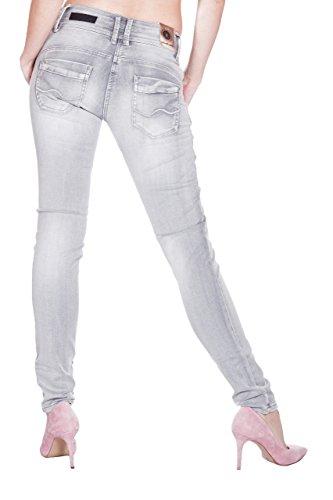 Blue Monkey Jeans -  Jeans  - skinny - Basic - Donna Grau
