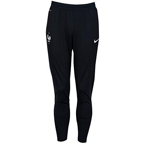 Nike FFF Strike Pnt II WP El - Pantalón Federación Francesa de Fútbol 2015/2016 para Hombre, Color Negro/Azul / Blanco, Talla L
