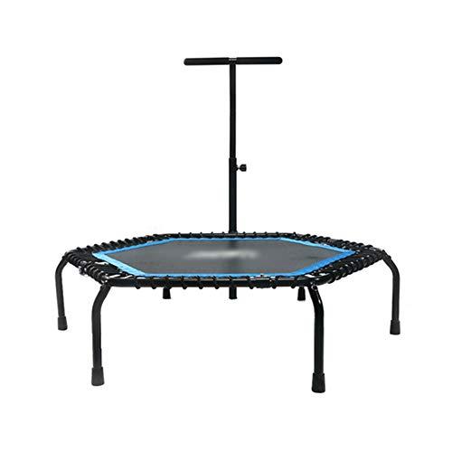 Trampoline avec Main Courante réglable, équipement de Conditionnement Physique Pliant pour Salle de Sport, intérieur pour Enfant ou Adulte, 50 Pouces