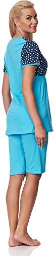 Be Mammy Vêtements Maternité Ensemble de Pyjama Mirella Turquoise