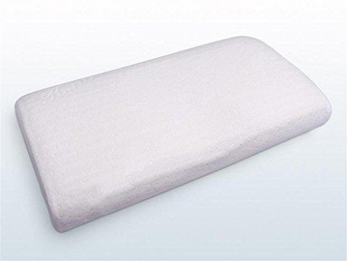 lichunyan Massage gestreift Cervical komfortabel für helfen zu schlafen schönheit Pflege der Haut Schönheit Streifen-Kopfkissen massageslow rebondement Kopfkissen, meters white, 61*35*11.5/8cm (Königin Bettbezug Grau)