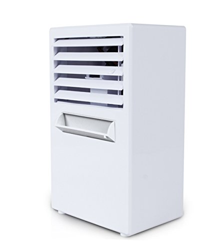 NANXCYR Kreativer Mini-Luftbefeuchter-Klimaanlagen-Ventilator-Tischventilator-Spray-Abkühlung blau Ventilator (Farbe : Grau)