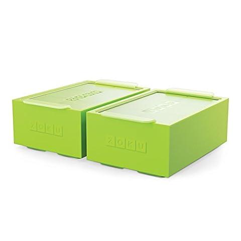 Zoku Unisexe Jumbo Glaçons Trays-set de 2, Vert