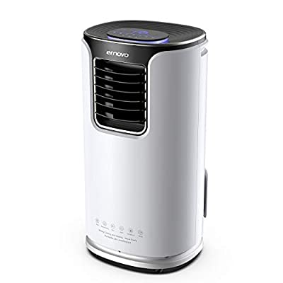Ernovo 14000BTU/4100W 5-in-1 Portable Air Conditioner with Remote Control and 3 Fan Speeds Options, Intelligent Sleep Mode and Lock Button,24 Hour Programmable Timer for Home and Office