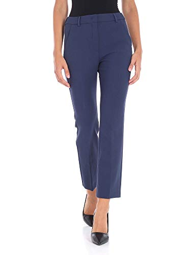 Weekend by Max Mara Damen 51360389000004 Blau Baumwolle Hose 399ccaf3628