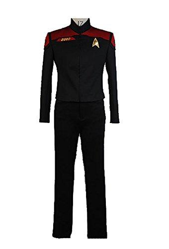 Elecos Star Trek Online schließliche Entscheidung Kostüm Version B Karneval Party delux Herren Schwarz XL
