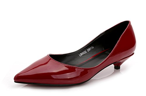 CAMSSOO - Classico donna wine red patent leather
