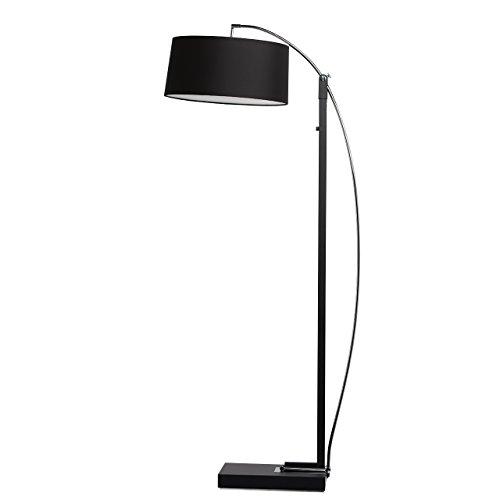 Moderne elegante Stehlampe schwarze Metall und Stoffschirm Farbe 200cm hoch 3 - flammig für Schlafzimmer Wohnzimmer oder Lounge exkl.3*40W E27 (Schwarze Stehlampe Stoffschirm)