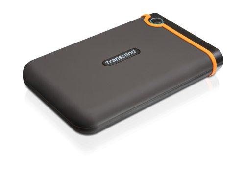 Transcend StoreJet 25M2 Anti-Shock 1 TB Externe Festplatte (6,4 cm (2,5 Zoll), USB 2.0) grau/orange