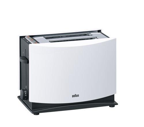 Braun Multiquick 3 HT450 Toaster | Doppelschlitz Toaster mit Brötchenaufsatz | Auftaufunktion | Krümelschublade | Wärmeisoliertes Gehäuse | Weiß  [Energieklasse A]