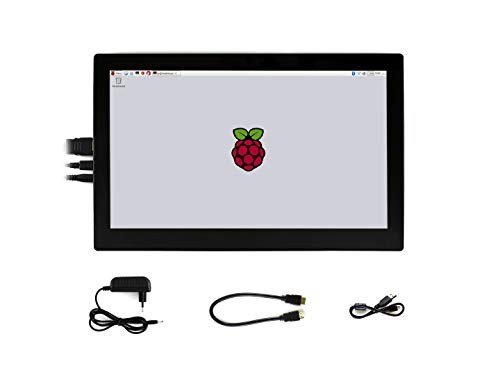 Waveshare 13.3inch IPS 1920x1080 Resolution Capacitive Touch Screen HDMI LCD with Toughened Glass Cover Supports Raspberry Pi BB Black Multi Systems Monitor Tilt Wall Mount