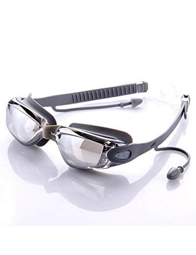 RSRZ Mann-Frauen-Silikon-wasserdichte Schwimmen-Schutzbrillen-Anti-Nebel-Sport-Schwimmen-Gläser Für Swimmingpoolsilver