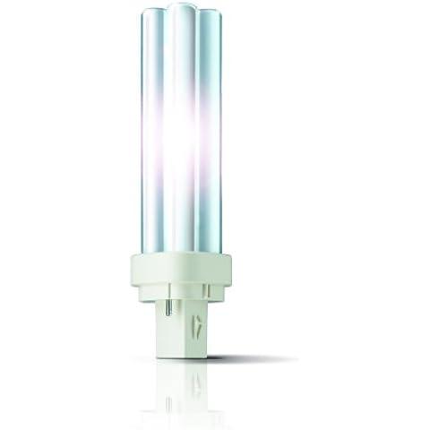 Philips - Lampadina PL-C 18 Watt, luce bianca calda (830),