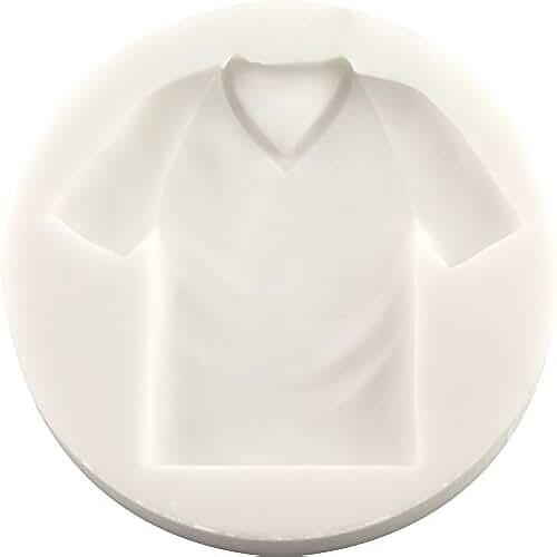 figuras kawaii porcelana fria Camiseta de fútbol molde de silicona