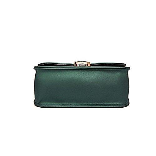 DFUCF Damen PU Büro Umhängetasche Besetzung Messenger Bag Handtasche Mode Lässig Robust Langlebig Retro Draußen Green