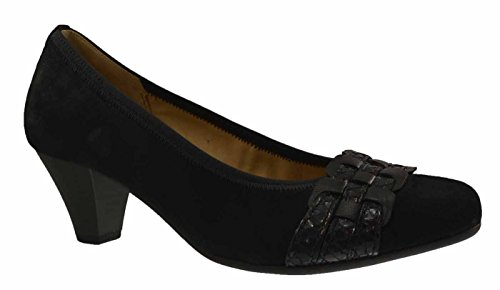 Gabor escarpins samtchevreau 35–480–10, noir Noir - Noir
