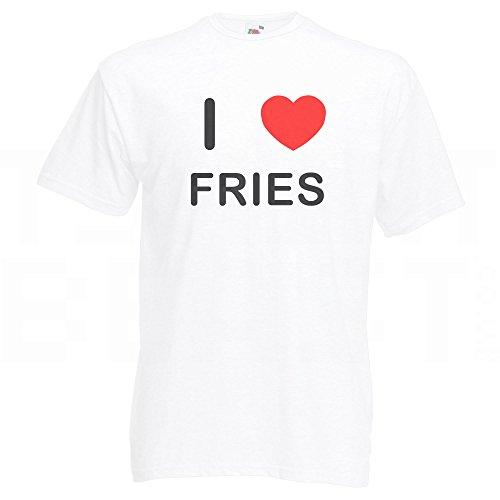 I Love Fries - T-Shirt Weiß