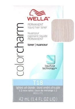Wella Color Charm Toner - #T18 - Lightest Ash Blonde 1.4 oz. (Pack of 2) by Wella