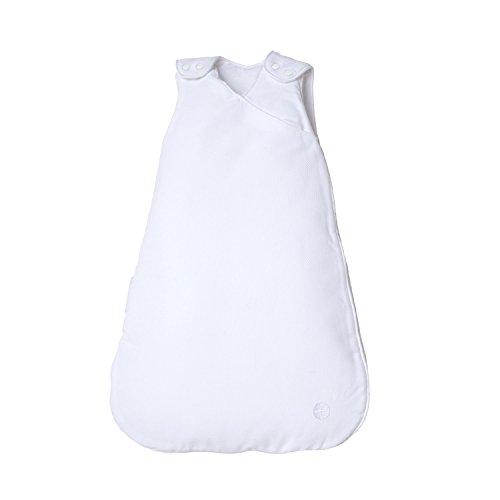 Preisvergleich Produktbild Baby Schlafsack Neugeboren 60cm von nordic coast | Weiß | 0-3 Monate | Schlummersack Ganzjahreschlafsack für 18-21° Raumtemperatur | 100% Baumwolle