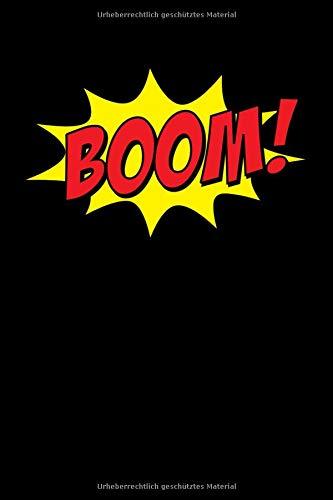 BOOM!: Superhelden Comic Notizbuch für Notizen, Termine, Skizzen, Zeichnungen oder Tagebuch | Geschenk zu Geburtstag oder Weihnachten [100 Seiten | liniertes Papier | A5 Format | Soft Cover]