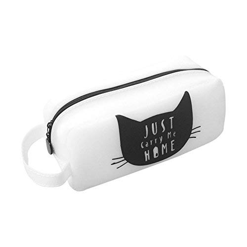 Zhi Jin Astuccio per penne e matite a forma di gatto in silicone, organizer portaoggetti per ragazze, adulti, scuola, viaggio, regalo White#1