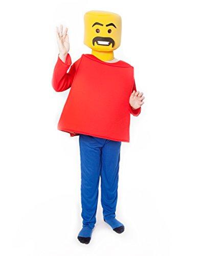 Mr Block Kopf Morphsuits Kostüm für (Kopf Block Kostüm)