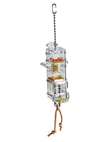 HappyBird Versteckspielzeug Tug ' N Slide Tower mit verschiedenene Öffnungen für alle Papageien