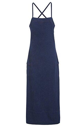 SS7 Damen Kleid Kleid blau blau vintage 36 Gr. 38, indigo (Jeans 1980 Womens)