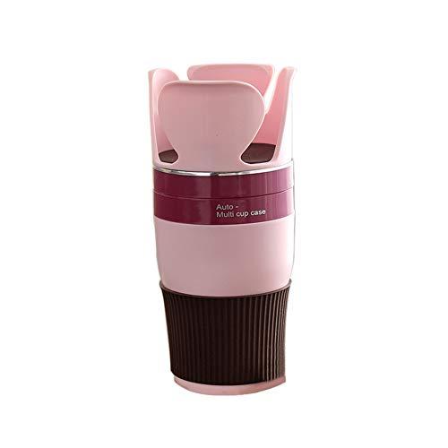 Preisvergleich Produktbild Slri Auto Getränkehalter Autotelefon Organizer Sonnenbrillen für Münzen Schlüssel - Rosa